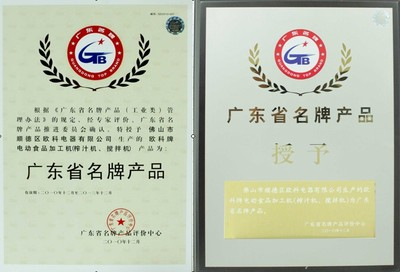 Certificate of Guaongdong Top Brand